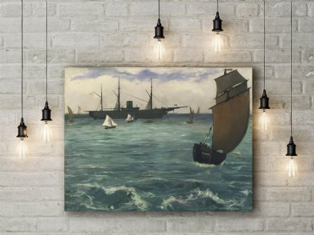 Manet: Fishing Boat Coming in Before the Wind. Fine Art Canvas.